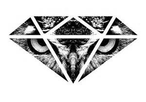 Jobs T Shirt Printing by Blacknd Quot Owl Diamond Quot T Shirt Design On Behance