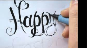 write fancy calligraphy letters for cards