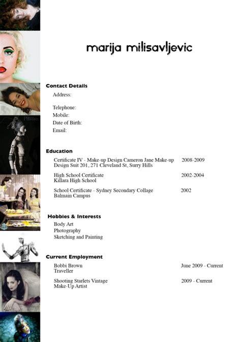 artist resume template artist resume template makeup sample 7 easy