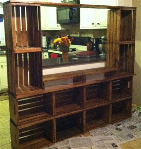 dog crate made out of dresser entertainment center made out of craft crates