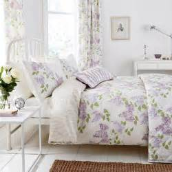 Green Double Duvet Set Lilac Floral Bedding By Sanderson At Bedeck Home