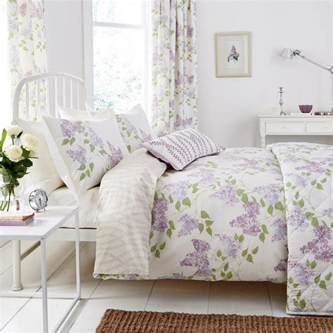 Lilac Floral Bedding by Sanderson at Bedeck Home