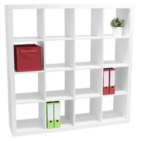 16 cube bookcase white malmo 16 cube bookcase unit white officeworks