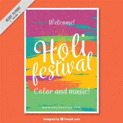 ready made templates for brochures colorful flyer template ready holi festival vector free