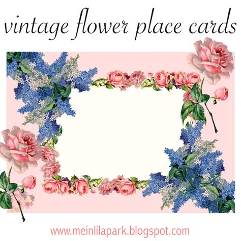 printable flowers for cards free printable vintage flower place cards ausdruckbare