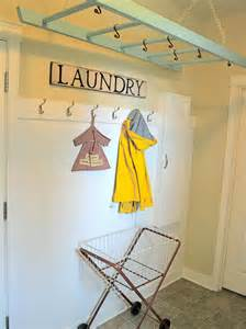 hanging drying rack for laundry room with wall mount
