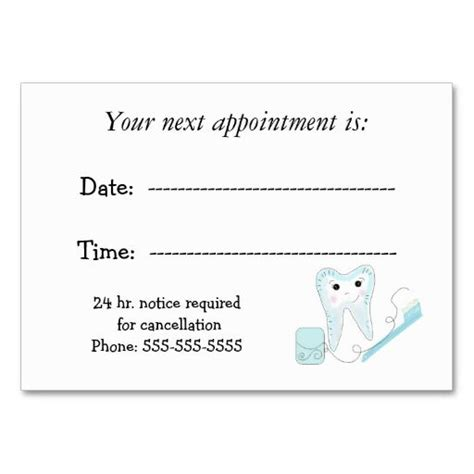 appointment reminder card templates dental appointment reminder business card it is paper