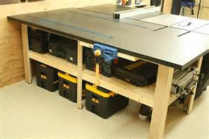 Best Cabinet Table Saw Amazing Table Saw Outfeed Tables Table Saw Central