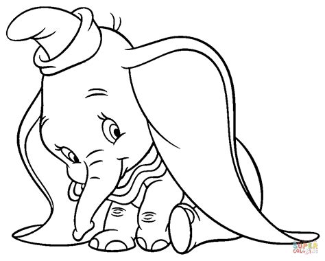 coloring pages dumbo elephant shy dumbo coloring page free printable coloring pages