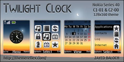 Themes Clock C1 | twilight clock theme for nokia c1 01 c2 00 themereflex