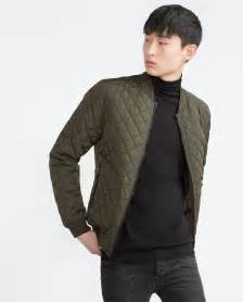 Quilted Bomber Jacket by Zara Quilted Bomber Jacket In Khaki For Lyst