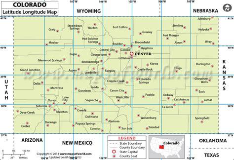 latitude longitude map usa colorado latitude and longitude map colorado lat map