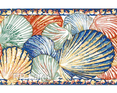 blue seashell wallpaper border wallpapersafari