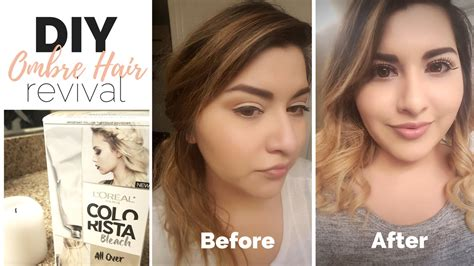 Loreal Bleaching diy ombre hair fix l oreal all