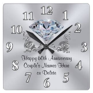 Wedding Anniversary Gift Clock by 60th Anniversary Gifts On Zazzle