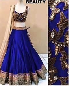 Silk Duvet Reviews Buy Royal Blue Art Silk Embroidery Unstitched Lehenga