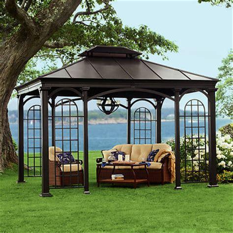 living home gazebo living home outdoors 10 x 12 aluminum hardtop gazebo