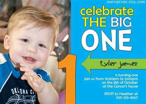 birthday invitation cards for baby boy 5 best images of 1st boy birthday card printable free