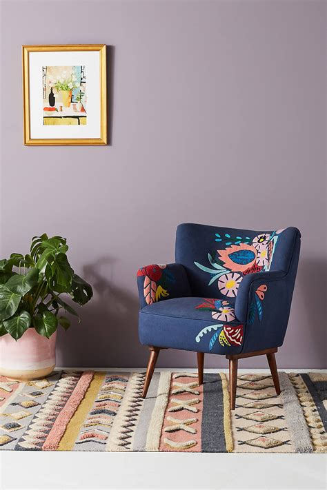 felted floral accent chair anthropologie