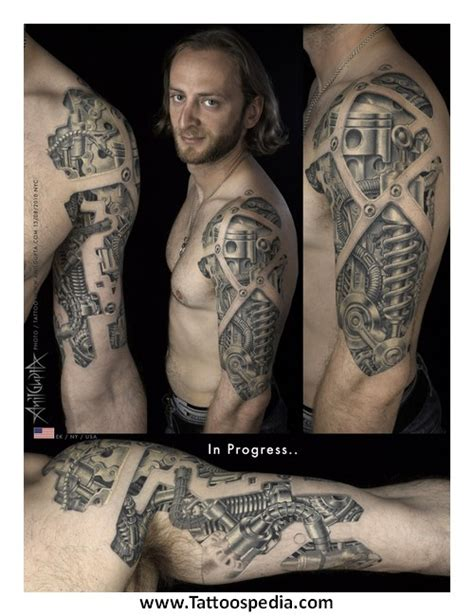 biomechanical wolf tattoo biomechanical tattoos