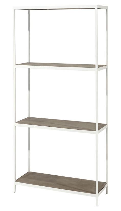 concrete shelf l 80 x h 167 cm grey concrete white by