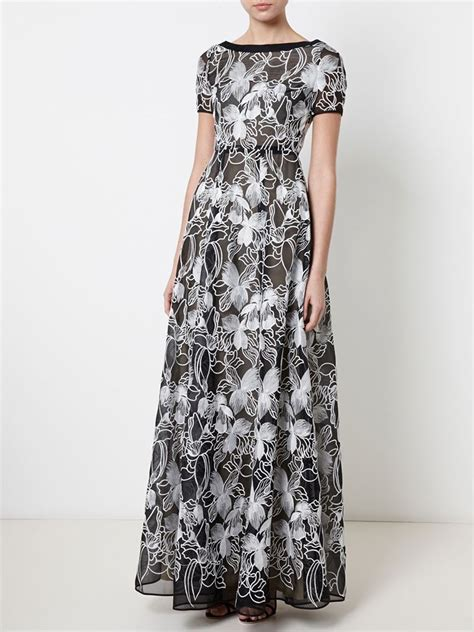 Wst 9046 Embroidered Flower Dress White Sale huishan zhang floral embroidered dress in black lyst
