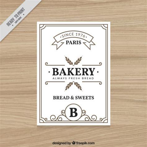brochure template vintage vintage bakery flyer template vector free download