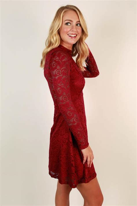 Put On The Glitz by Put On The Glitz Lace Dress In Scarlet Impressions