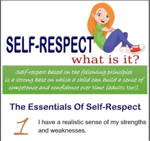 what is selves self respect what is it infographic respect