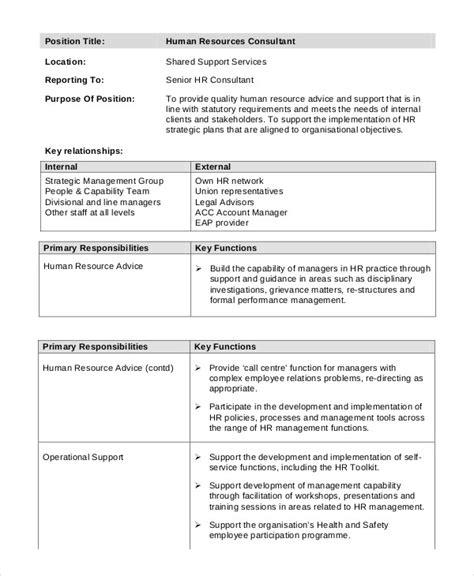 Hr Consultant Description 11 consultant description templates free premium templates