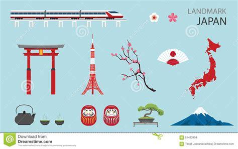 flat icon design japan flat icons design landmark japan stock vector image