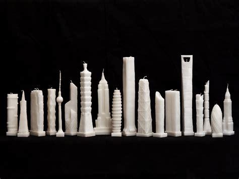designer candles skyscraper candles set the design world alight