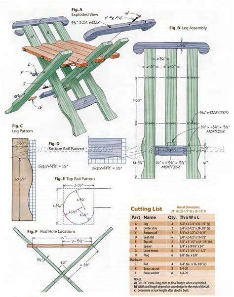 Folding Bar Stool Plans by Folding Stool Plans Woodarchivist