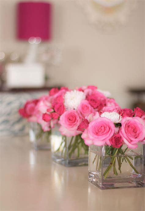Simple arrangement ideas for the tables, if you want to go