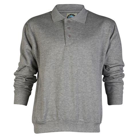 Collared Sweatshirt e22 mens kam k504p plain collared button up polo
