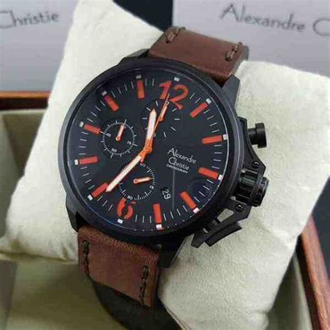 Alexandre Christie Ac2638 Brown Leather 100 Original jual alexandre christie ac 6374mc black steel brown leather baru jam tangan terbaru murah