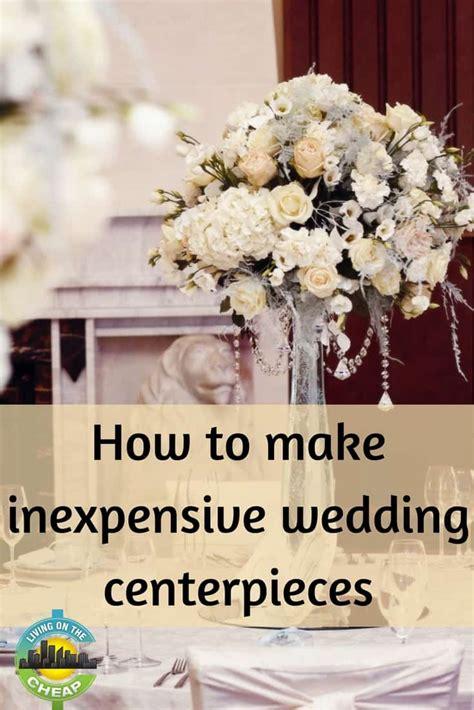inexpensive wedding centerpieces living