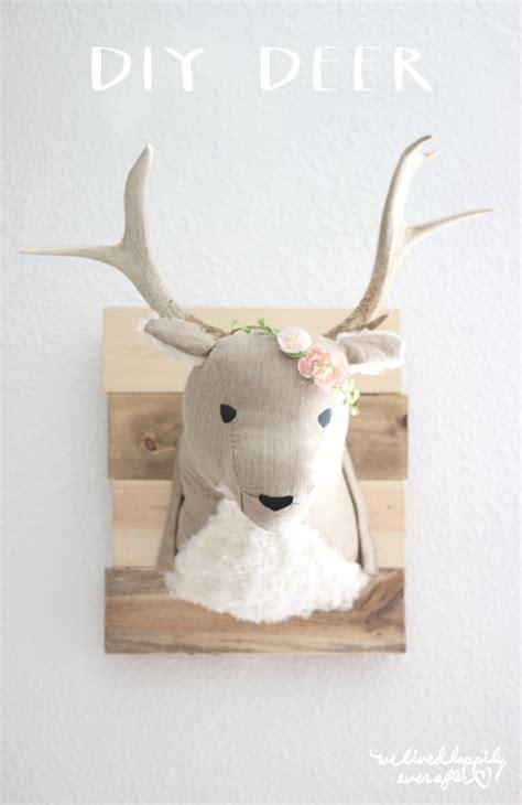 diy deer stuffed animal taxidermy we lived happily