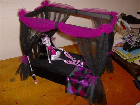 how to make a monster high bed monster high doll canopy bed diy monster high dollhouse