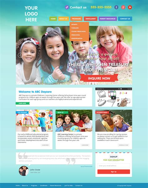 Daycare Website Templates Childcare Website Templates Day Care Website Designs Childcare Daycare Website Templates Free