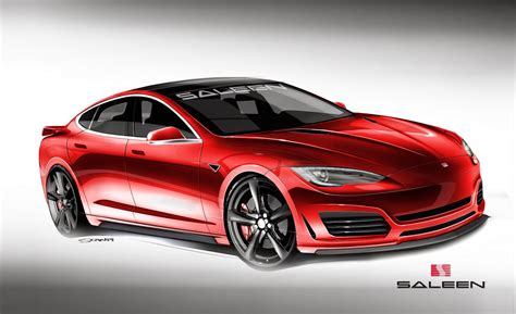 Orange Tesla Model S Saleen Automotive Plans Orange County Aggro Tesla Model S