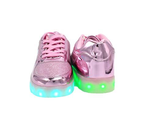 Shoes Glossy Led galaxy led shoes light up usb charging low top sneakers pink glossy fusion galaxy led shoes