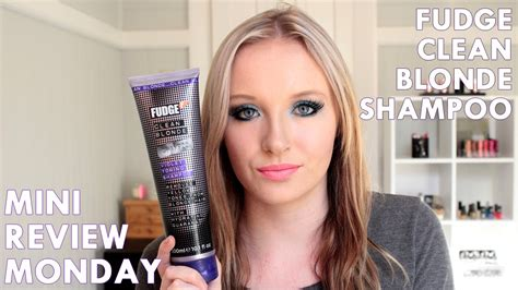 the best toning shoo for blondes youtube mini review monday fudge clean blonde violet toning