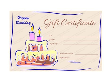 blank birthday gift certificate template happy birthday blank gift certificate soaringmailer
