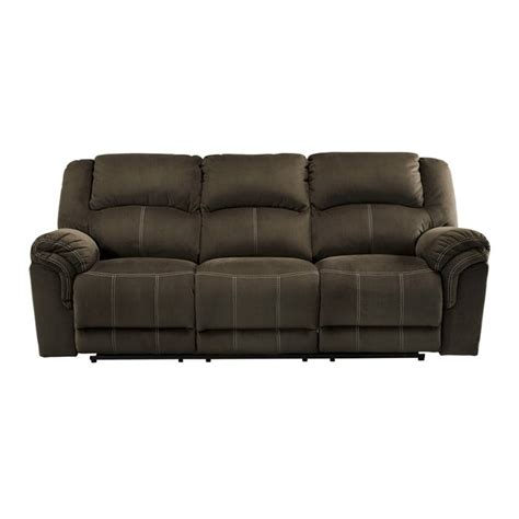 ashley furniture power reclining sofa reviews ashley quinnlyn power reclining sofa in coffee 9570187