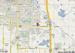map ft collins colorado map of garden inn fort collins fort collins