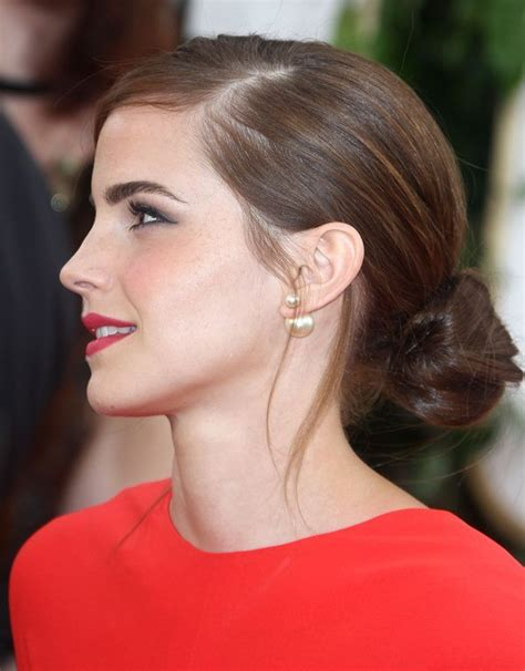 emma watson earrings emma watson tried hard to have a good time at the golden