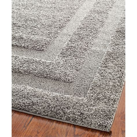 grey area rug safavieh florida shag gray area rug reviews wayfair