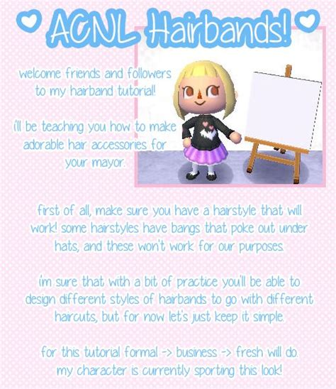 animal crossing new leaf hair band hairband tutorials animal crossing new leaf pinterest