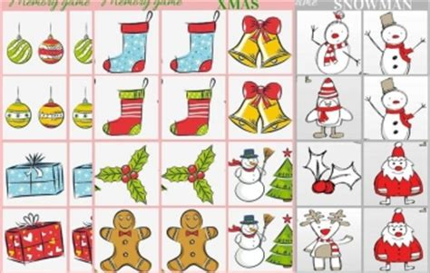 6 best images of printable games memory card printable christmas ornament and snowman memory game free